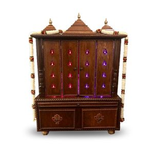 "48""- 3 Roof Closed Design Pooja Mandir"